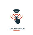 touch sensor icon from sensors icons collection vector image vector image