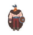 viking warrior scandinavian mythology character vector image vector image