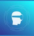 vr helmet virtual reality glasses icon vector image