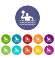Water polo set icons vector image vector image