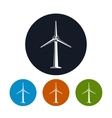 Wind Turbine Icons vector image vector image