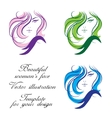 Womans face Template for your design vector image