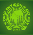 world environment day logo design june 5 vector image vector image