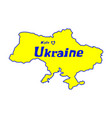 yellow outline map ukraine stylized concept vector image