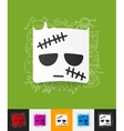 zombie paper sticker with hand drawn elements vector image vector image