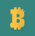 bitcoin icon sign vector image