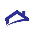 roof home building logo vector image