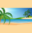 a simple beach scene vector image vector image