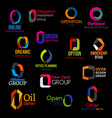 abstract modern design corporate identity o icons vector image vector image
