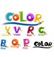 alphabet color vector image
