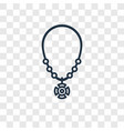 amulet concept linear icon isolated on vector image