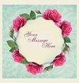 Beautiful greeting card with flowers and pattern vector image