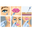 botox injection cosmetic procedure set vector image