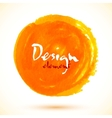 Bright orange watercolor circle vector image vector image