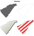 Calaveras County California outline map set vector image vector image