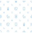 call icons pattern seamless white background vector image vector image