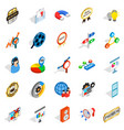call service icons set isometric style vector image vector image