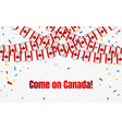 canada garland flag with confetti on transparent vector image vector image