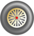 car wheel icon vector image vector image