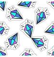 cartoon crystal pop art fashion badge vector image