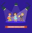 children musical show banner template kids vector image