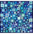 circle square collection in many blue purple vector image vector image