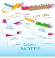 Colorful paper notes with place for text vector image vector image