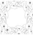 corn poppy outline border vector image vector image