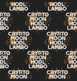crypto seamless concept moon and hodl pattern vector image vector image