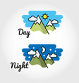 Day and night sun - moon symbol vector image