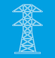 electric tower icon outline style vector image vector image