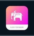 elephant animal mobile app icon design vector image vector image