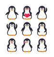 emojis set pinguin character vector image