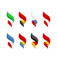 flags some europe countries set bright style vector image vector image