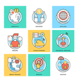 Flat Color Line Design Concepts Icons 7 vector image vector image