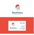 flat santa clause logo and visiting card template vector image vector image