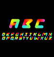 font set retro 80 style typography - symbols can vector image