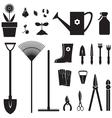 Garden equipment set vector image