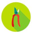Garden Secateur Tool Circle Icon vector image vector image