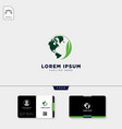 globe nature logo template and get free business vector image vector image