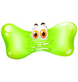 Green stretching with face vector image vector image