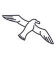 gullseagull line icon sign vector image