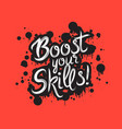handdrawn graffiti boost your skills vector image vector image