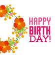 happy birthday celebration poster floral