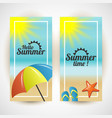 happy summer sale background layout for banners vector image