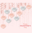 happy valentine day background with shiny and vector image