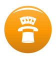 hat with card icon orange vector image vector image