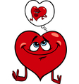 heart in love cartoon vector image vector image