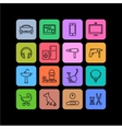 icons products categories linear color vector image vector image