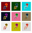 icons set in flat style male reproductive system vector image vector image